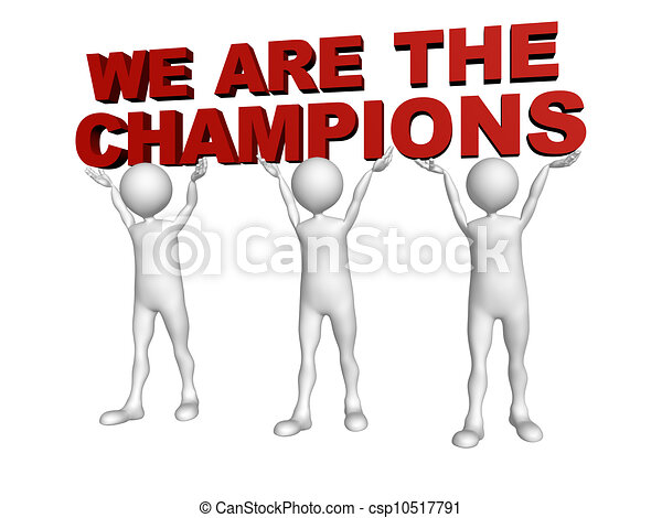 Three Men Join Forces To Lift The Words We Are Champions