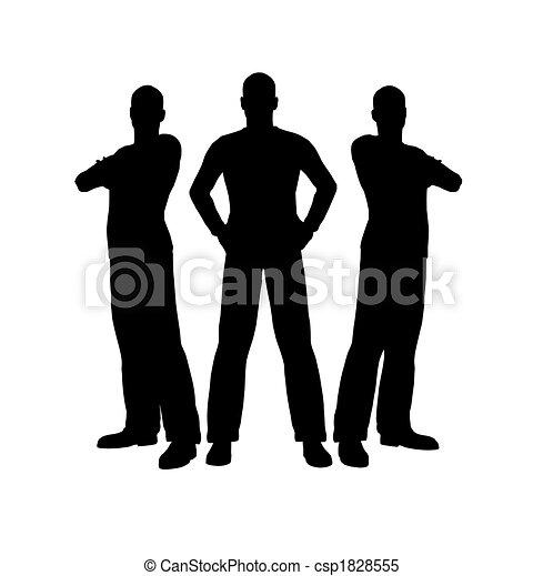three men silhouette - csp1828555