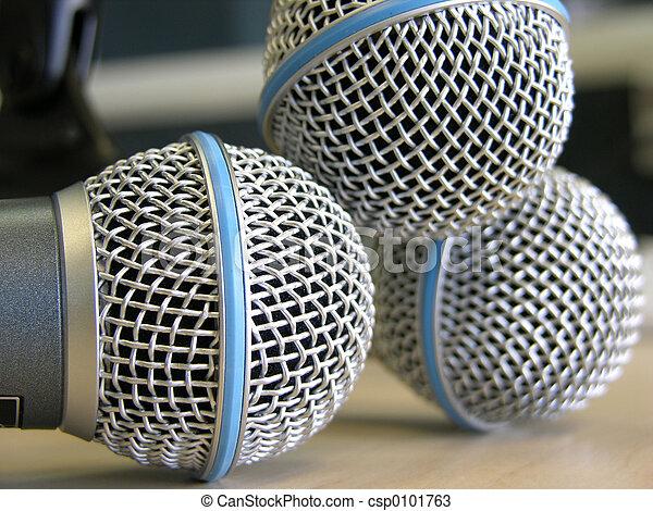 Three Microphones - csp0101763