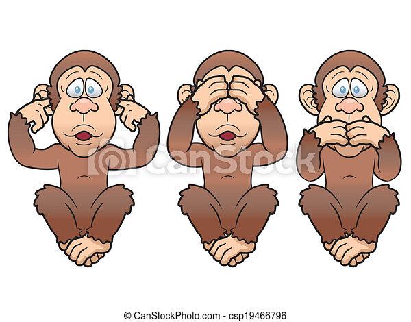 Three monkeys - csp19466796