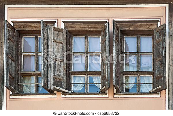 Three old windows - csp6653732