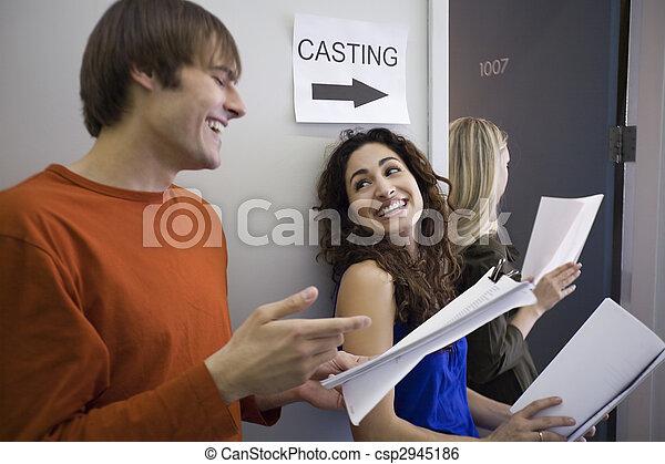 Three People at Casting Call - csp2945186