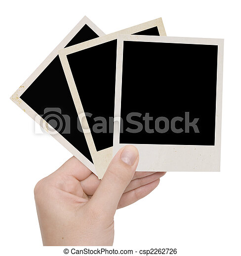 three photo frames in a hand - csp2262726