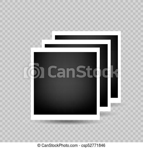 Three photo frames transparent background. Three photo frames with ...