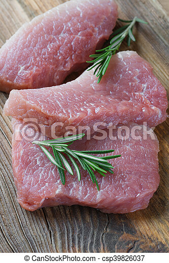 Three pieces of meat - csp39826037