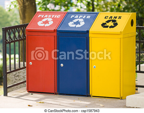 Three recycling bin - csp1587943