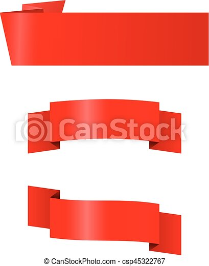Three red banners - csp45322767