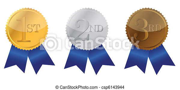 Three ribbons of Achievement  - csp6143944