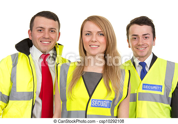 Three security guards - csp10292108