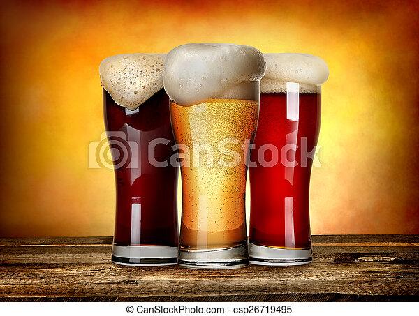 Three sorts of beer - csp26719495