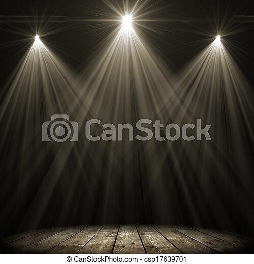 three stage spot lighting - csp17639701