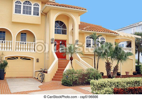 Three story home in the Tropics - csp5196666