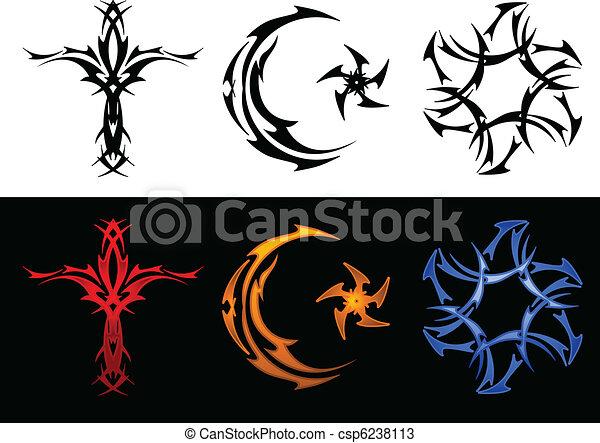 Three Tribal Religious Symbols Tribal Tattoo Versions Of The Cross