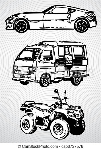 Three vehicles for different purposes - vector - csp8737576