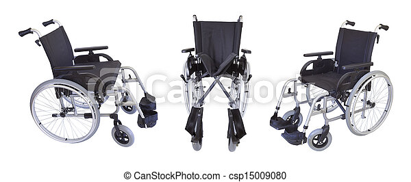 Three views of the wheelchair isolated on white - csp15009080