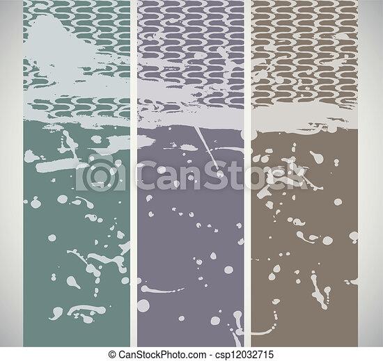 Three vintage banners - csp12032715