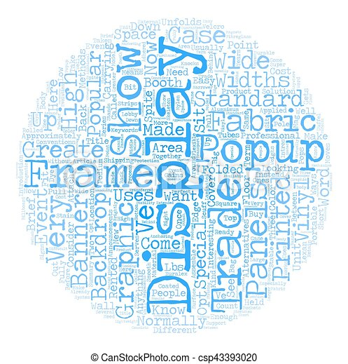 Three Ways To Create A Trade Show Booth Backdrop text background wordcloud concept - csp43393020