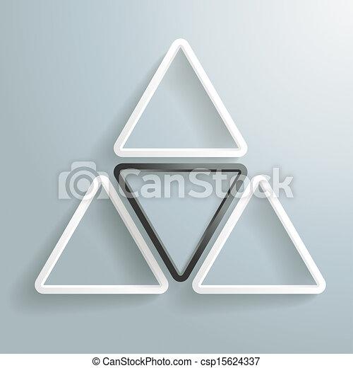 Three White One Black Triangle Background PiAd - csp15624337