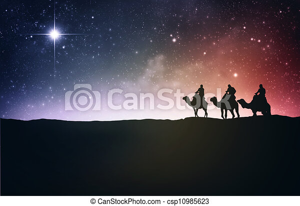 Three wise men and star - csp10985623