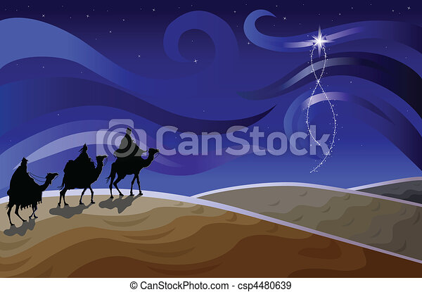 Three wise men and the star - csp4480639