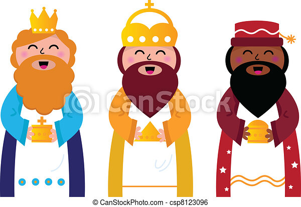 three wise men bringing gifts to ch caspar melchior and clip rh canstockphoto com Three Wise Men Clip Art Black and White Thin Three Wise Men Background