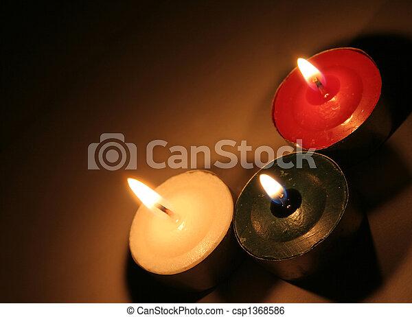 three xmas tea candles csp1368586