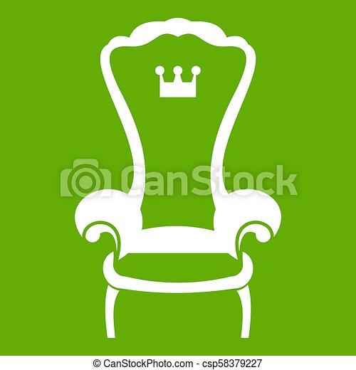 grüner stuhl
