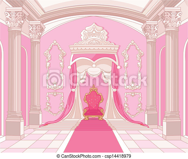 Throne room of magic castle - csp14418979