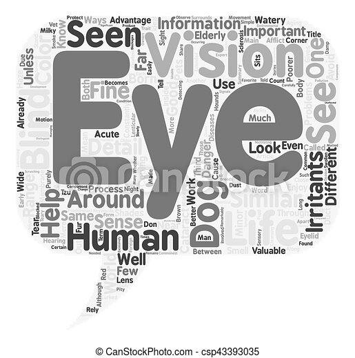 Through the Eyes of Your Dog text background wordcloud concept - csp43393035