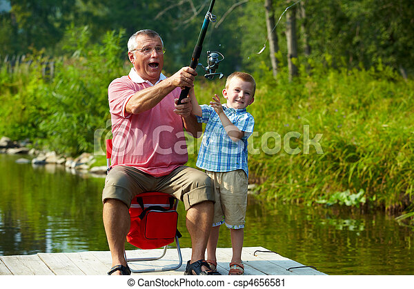 Throwing fishing tackle - csp4656581
