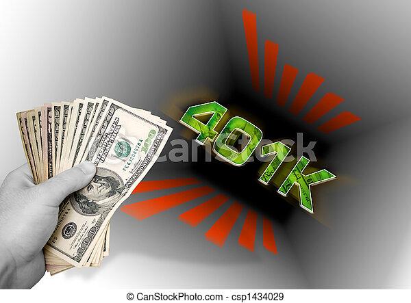 Throwing Money In The 401k - csp1434029