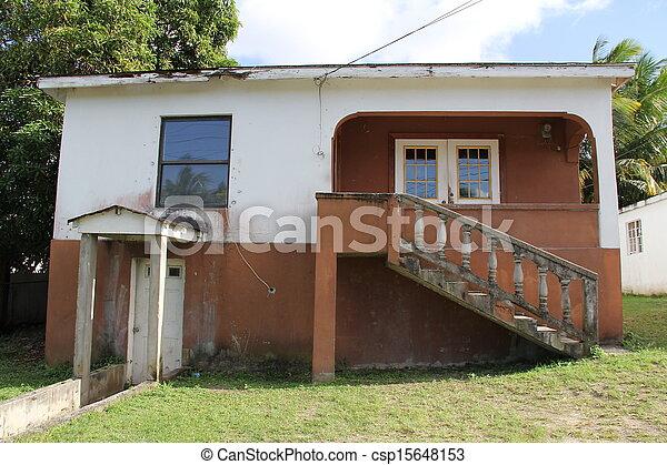 thuis, barbuda, antigua, typisch - csp15648153