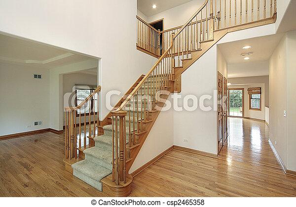 thuis, ontvangsthal , bouwsector, nieuw - csp2465358