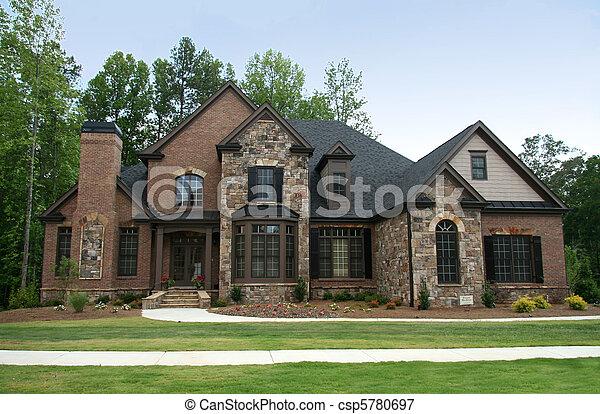 thuis, stand, luxe, bovenleer - csp5780697