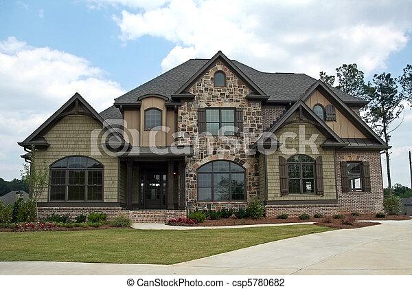 thuis, stand, luxe, bovenleer - csp5780682