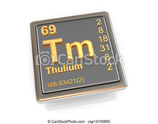 Thulium. Chemical element. - csp14193865