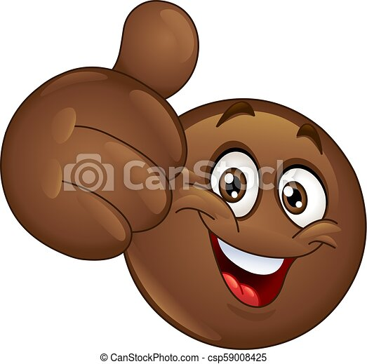 Thumb up African emoticon - csp59008425