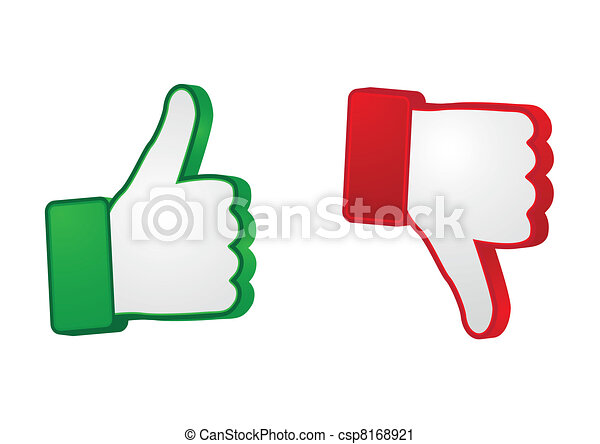 thumb up and down gesture - csp8168921