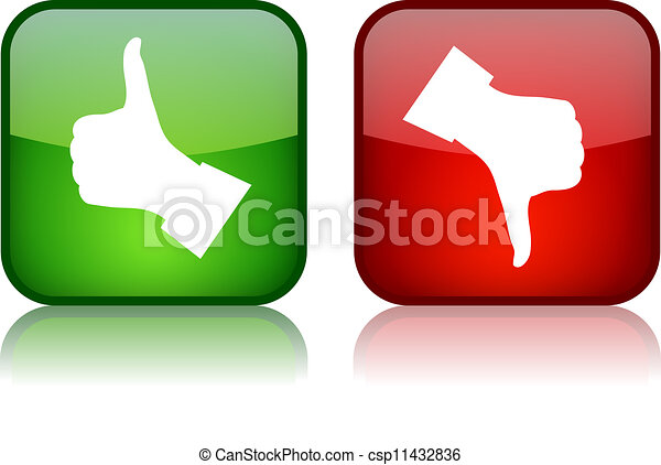 Thumb up and down vector buttons - csp11432836