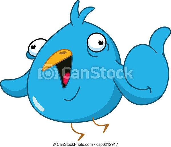 Thumb up bird - csp6212917