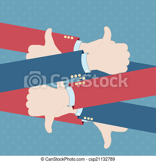 thumb up concept - csp21132789