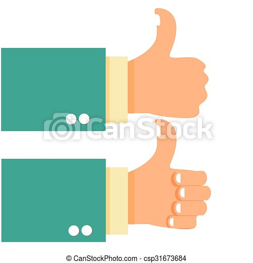 Thumb Up Gesture Hand - csp31673684