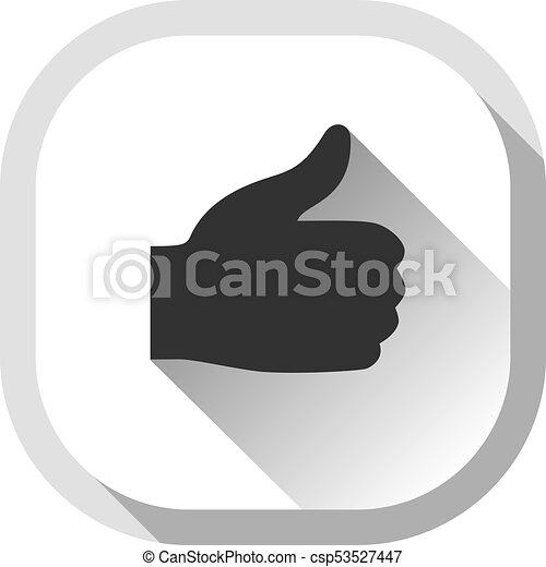 Thumb up, gray button - csp53527447