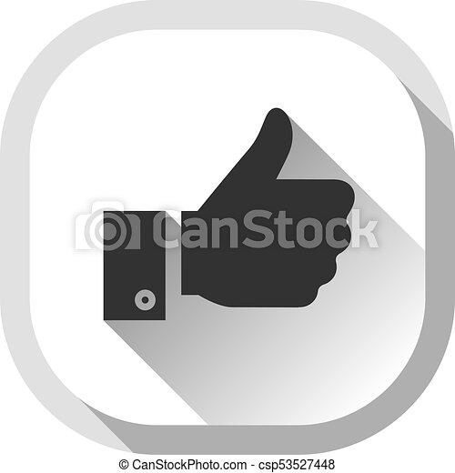 Thumb up, gray button - csp53527448