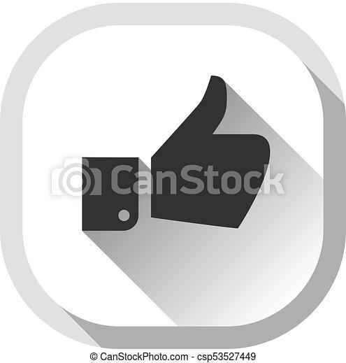 Thumb up, gray button - csp53527449