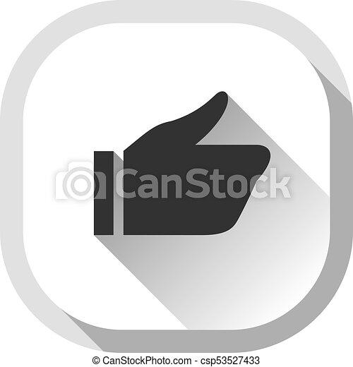 Thumb up, gray button - csp53527433