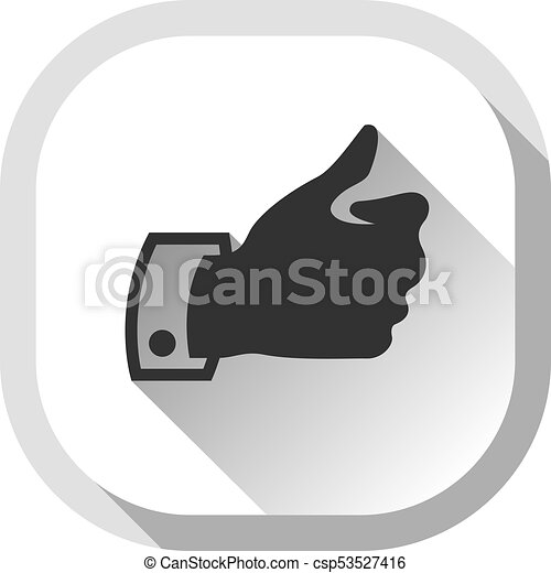 Thumb up, gray button - csp53527416