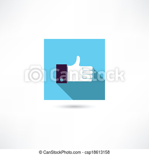 thumb up icon - csp18613158