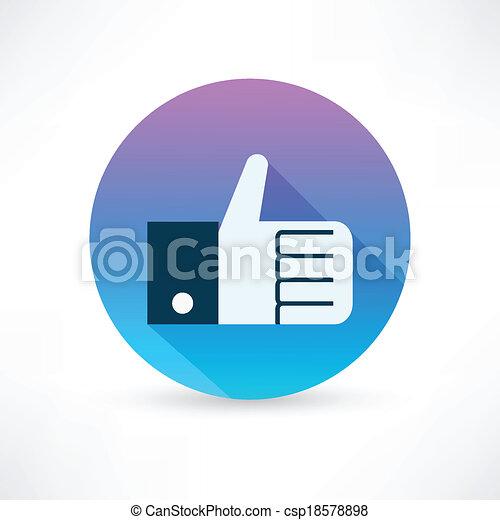 thumb up icon - csp18578898