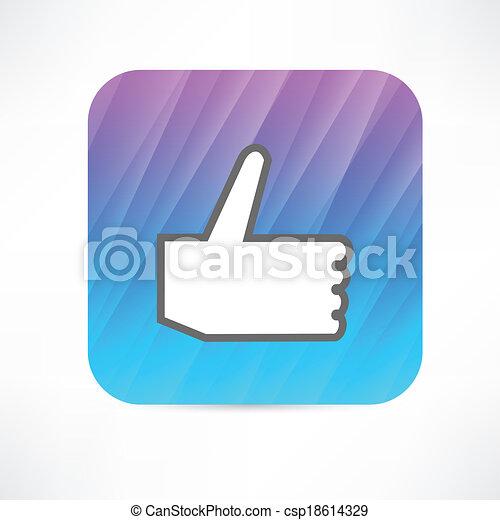 thumb up icon - csp18614329